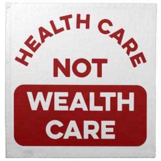 Gesundheitswesen-nicht Reichtums-Sorgfalt Stoffserviette