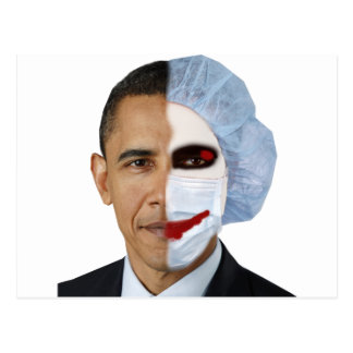 Gesundheitswesen Obama-Joker Postkarte