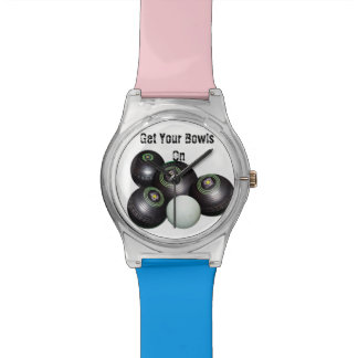 Get_Your_Bowls_On, _Ladys_Blue_Pink_May_Watch. Armbanduhr