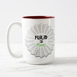 Getankt durch Pflanzen-Tasse Zweifarbige Tasse