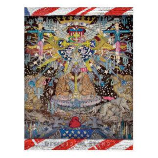 Geteilt stehen wir TEO bereit Postkarte