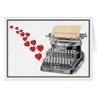 Getippter Valentinsgruß Karte
