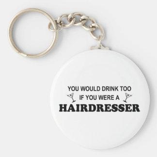 Getränk-auch - Friseur Schlüsselanhänger