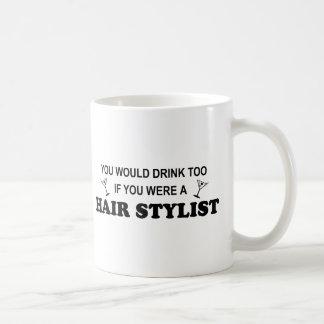 Getränk-auch - Haar-Stylist Kaffeetasse