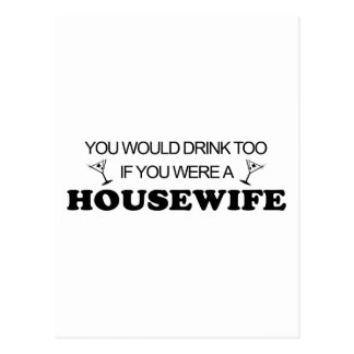 Getränk-auch - Hausfrau Postkarte