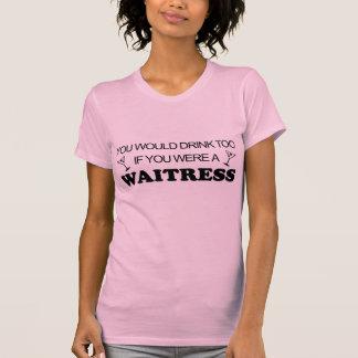 Getränk-auch - Kellnerin T-Shirt