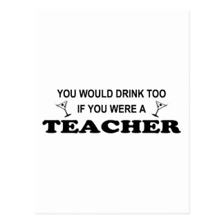 Getränk-auch - Lehrer Postkarte