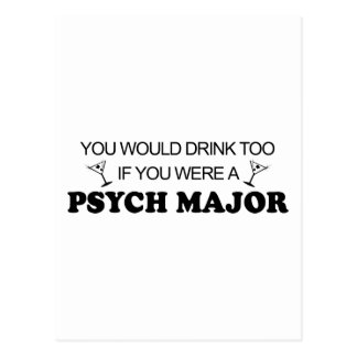Getränk auch - Psych Major Postkarte