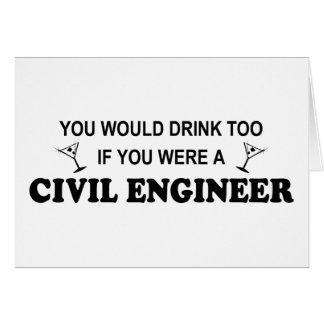 Getränk-auch - ziviler Ingenieur Karte