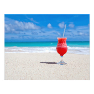 Getränk auf Strand-Flyern 21,6 X 27,9 Cm Flyer