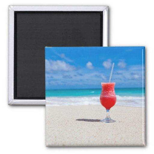 Getränk auf Strandmagneten