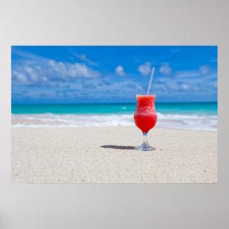 Getränk auf Strandplakat Poster