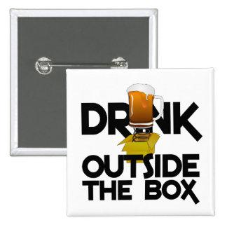 Getränk außerhalb des Kastenknopfes Quadratischer Button 5,1 Cm