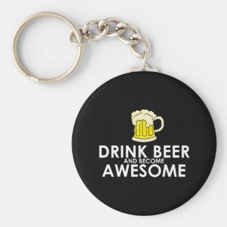 Getränk-Bier und fantastisch geworden Standard Runder Schlüsselanhänger
