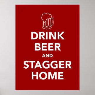 Getränk-Bier und schwanken Zuhause Poster