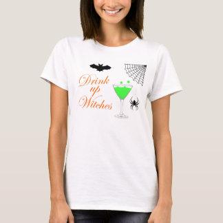 Getränk herauf Hexe-Halloween-T - Shirt