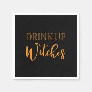 Getränk herauf Hexen | schwarze u. orange Serviette