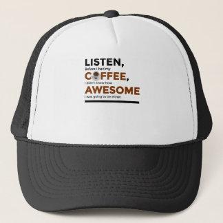 Getränk-Kaffee ist fantastisch Truckerkappe