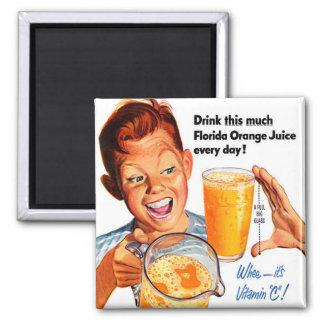 Getränk-Orangensaftsommersprossiger Quadratischer Magnet