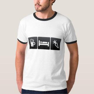 Getränk-, Schlaf-und Reinigungs-Karotten T-Shirt