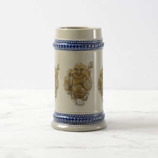 Getränk und ist glücklich… Glückliche Buddha-Tasse Bierglas