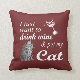 Getränk-Wein u. Pet meine Katze Kissen