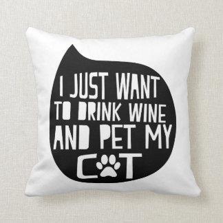 Getränk-Wein und Pet meine Katze Kissen