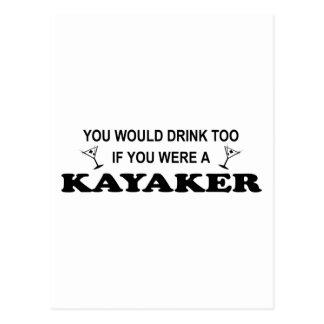 Getränkauch - Kayaker Postkarte