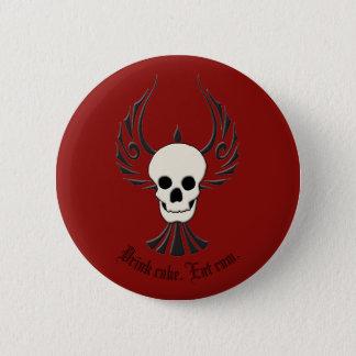 Getränkkuchen. Essen Sie Rum. Knopf Runder Button 5,1 Cm