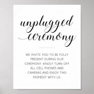 Getrenntes Hochzeits-Zeremonie-Zeichen - Alejandra Poster