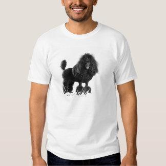 Getrimmter schwarzer Pudel Hemden