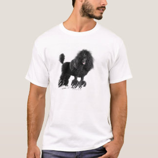 Getrimmter schwarzer Pudel T-Shirt