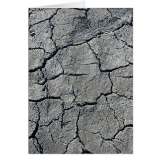 Getrockneter Riverbed, Schlamm Karte