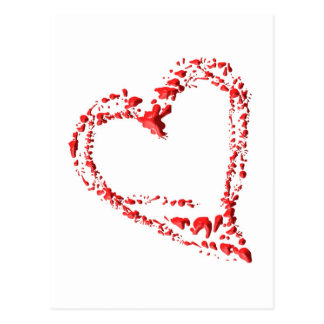 getropftes Herz Postkarten