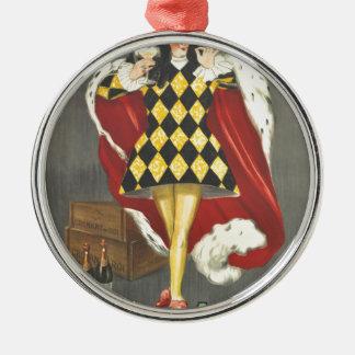 Getrunken durch Abgabe Silbernes Ornament