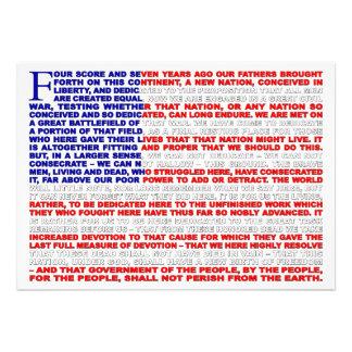 Gettysburg-Adresse laden ein Personalisierte Einladungskarten