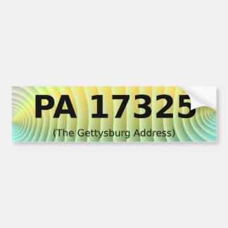 Gettysburg-Adressen-Autoaufkleber