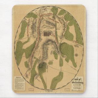 Gettysburg-Schlachtfeld-historische Karte Mauspads
