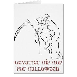 Gevatter HipHop für Halloween Karte