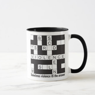 Gewalt-Kreuzworträtsel-Glas-Tasse Tasse