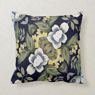 Gewebe-dekoratives Hintergrund-mit Blumenmuster Kissen