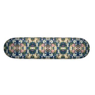 Gewebe-dekoratives Hintergrund-mit Blumenmuster Skateboard Brett