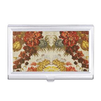 Gewebe mit einem wiederholenden Blumenmuster Visitenkarten Etui