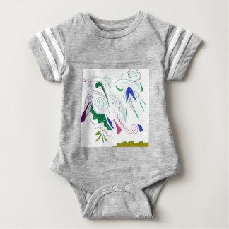 Gewebe mit Verzierungen Baby Strampler
