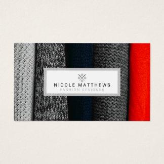 Gewebe-Modedesigner Visitenkarte