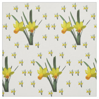 Gewebe - Narzissen-Blüten Stoff