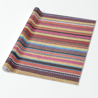 Gewebe Stripes Muster färbte I + Ihre Ideen Geschenkpapier