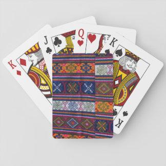 Gewebe von Bhutan Spielkarten