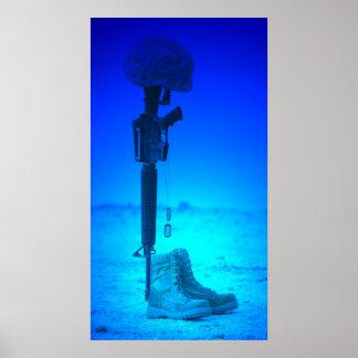 Gewehr-Erkennungsmarke-Kevlar-Stiefel Poster