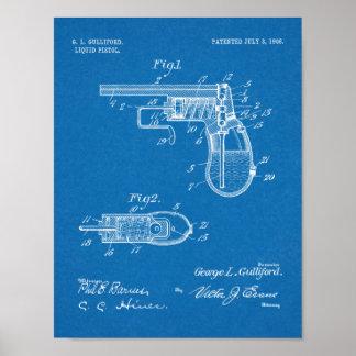 Gewehr-Patent-Kunst des Wasser-1906, die Druck Poster